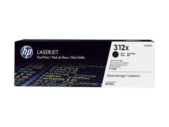 Toner 312X Black 2-pack CF380XD