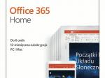 Office 365 Home PL Box P4 Subskrypcja 1Rok /do 6Użytkowników / 5Urządzeń Win/Mac 6GQ-01016. Zastępuje P/N: 6GQ-00704